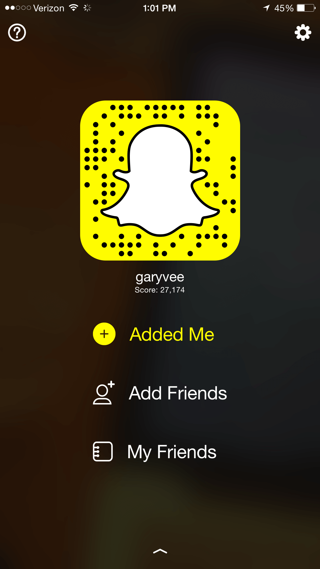 QR Code for garyvee on Snapchat