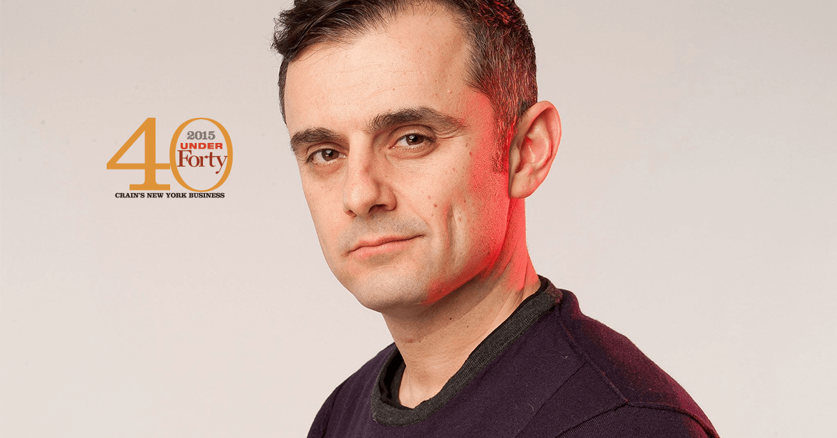 Gary Vaynerchuk 40 under 40 for Crain's New York Business