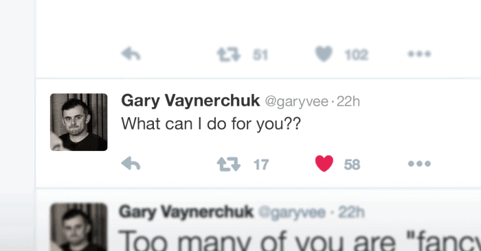"Gary tweet ""What Can I Do For You?"""