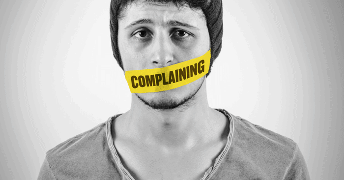 One of the few things I complain about: complaining
