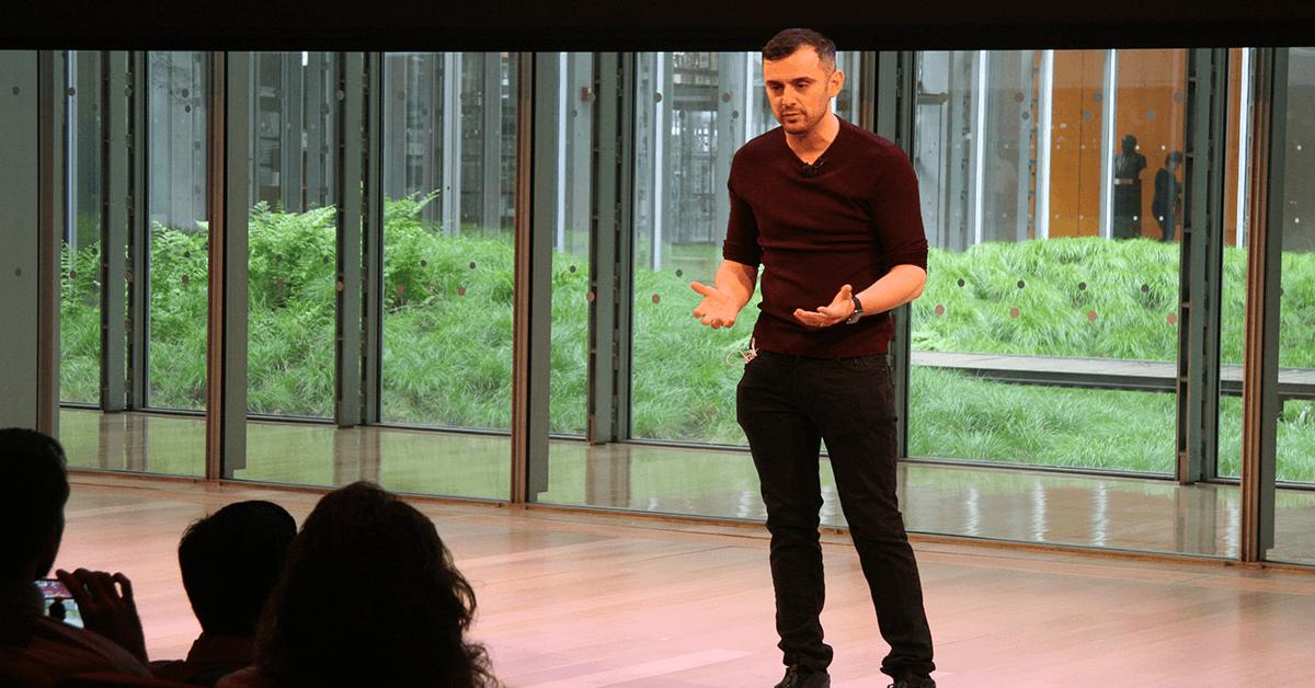 Gary Vaynerchuk gives a keynote