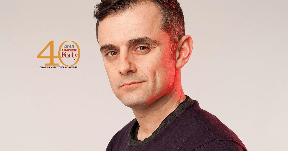 Gary Vaynerchuk 40 under 40 for Crain's New York Business